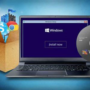 نصب ویندوز xpو7و8و8.1و10ونرم افزار
