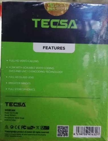 وب کم TECSA مدل TC200 با لنز 8 مگاپیکسلی فول اچ دی